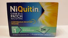 NIQUITIN CLEAR 21MG PATCH NICOTINE STEP 1 - 7 PATCHES *