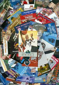 60 Different Sports Pocket Schedules: MLB/NFL/XFL/NBA/NHL/Minor/College