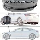 17-21 Tesla Model 3 Front Bumper Lip & Side Skirt & Diffuser - Carbon Print