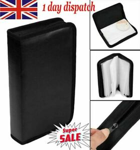 UK TOP✔ Media 80 Discs CD DVD Game Wallet Storage Ring Binder Carry Case Folder