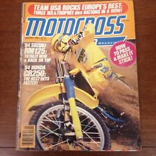 MOTOCROSS ACTION JANUARY 1984 CR250 MXDN RM125 MARK BARNETT VINTAGE AHRMA VMX