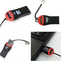 2PCS Black High Speed Mini USB 2.0 Micro SD TF SDHC Memory Card Reader Adapter