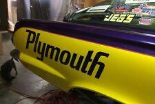"1970 ""PLYMOUTH"" ROAD RUNNER SUPERBIRD QUARTER PANEL NAME DECAL SET*"