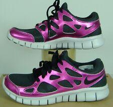 New Womens 6.5 NIKE Free Run 2 PRM EXT Black Rave Pink Run Shoes $110 555340-002