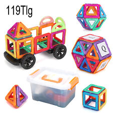 119tlg Magformers Spielzeug 3D Ziegel Magnetische Bausteine Pädagogisches Set