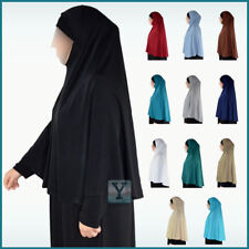 XL one Piece Hijab lycra Amira Khimar Jilbab Scarf pull on ready made instant