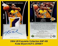 Lot of 25 2004 UD Exquisite Collection #AP-KB Kobe Bryant AUTO JERSEY REPRINT