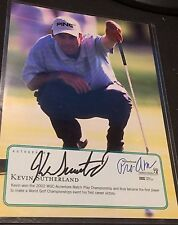 KEVIN SUTHERLAND Signed GOLF Pro-Am PGA AUTOGRAPH 5x7 Child Charity Card COA