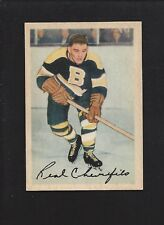 1953 Parkhurst #85 Real Chevrefils, Vintage Boston Bruins NHL Hockey 1953-54