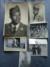 African american military soldiers photo lot of 6