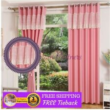 Velvet Solid Sheer Window Curtains