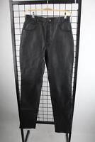 Schwarze Lederhose Gr.31 Jeans-Hosen-Look Top Zustand