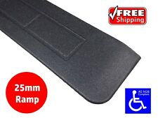 RUBBER THRESHOLD RAMP 25mm WHEELCHAIR ACCESS DISABILITY DOOR STEP WEDGE