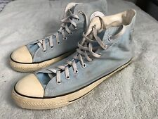 Converse All Star Canvas High Tops Mens Size 13 Light Blue Some Fading SC8