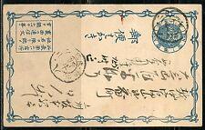 JAPAN  1875 ISSUED POSTCARD  USED