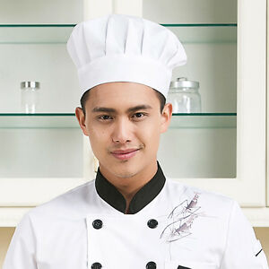 New Professional Poly Cotton Catering Cap Chefs Hat Kitchen Cooks Catering Cap