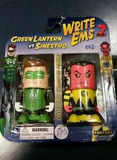 DC COMICS WRITE EMS 2 PACK GREEN LANTERN & SINESTRO KEY RING CLIP ON PENCILS