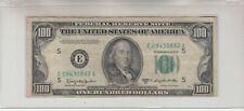 1950 D (E) $100 One Hundred Dollar Bill Federal Reserve Note Richmond Vintage