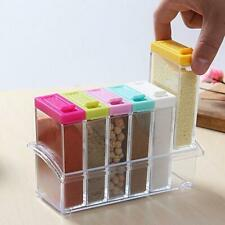 Set of 6 Spice Shaker Jars Seasoning Box Condiment Storage Container Mini