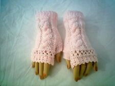 Cable OpenLace Pattern Fingerless Gloves Original by CarussDesignZ 0069