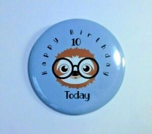 58mm Sloth Badge Personalised Birthday Party Bag Filler Gift Christmas