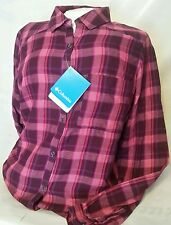 NWT Columbia Women's Piper Ridge Long Sleeve Shirt Plaid Size Small $60 Retail