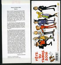 2 couvertures de carnets Fête du timbre 2006 - SPIROU