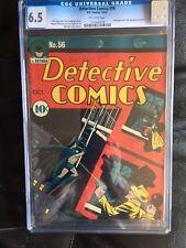 DETECTIVE COMICS #56 CGC FN+ 6.5; OW; Bob Kane cvr/art; Jerry Robinson art!