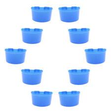 10x Poultry Pigeon Feeder Cups Drinker Plastic Food Water Feeding Bowl