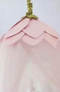 Pottery Barn Kids Bed Canopy Pink Rose Petal Flower Pink Tulle Girls BedRoom