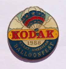 Pin's pin MONTGOLFIERE KODAK 1988 GREAT AMERICAN BALLOON FEST (ref F)