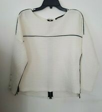Zara Basic Womens Blouse Size XS - White Back Zipper Shirt