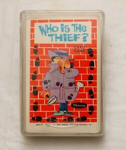 Vintage 1966 WHO IS THE THIEF? Card Game Plastic Case Whitman COMPLETE