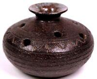 Vintage Studio Art Pottery Signed Spill Incense Vase