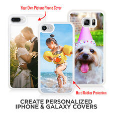 iPhone & Galaxy Custom Photo Case TPU Rubber Protection Your Own Picture Cover