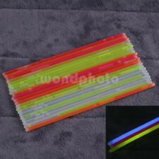 """25Pcs 8"""" Multi-Color Glow Stick Light Bracelet Necklace for Party Festival"""