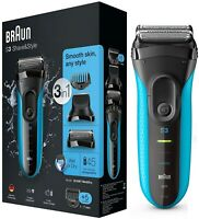 Braun BT3010 Series 3 Electric Wet / Dry Shave & Style 3 in 1 Shaver /Brand New