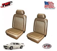 Nugget Gold Front & Rear Seat Upholstery for 1969 Mustang, Made in the USA, TMI