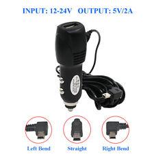 3.5m DC 5V 2A Mini USB Car GPS Dash Camera Charger Adapter Power Cord w/USB Port