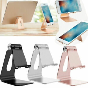 Adjustable Cell Phone Tablet Desktop Stand Desk Holder Mount Cradle Aluminium US