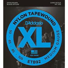 D'Addario ETB92 Nylon Tapewound 4-String Bass strings 50-105