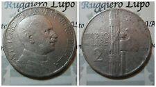 Regno Vittorio Emanuele III Buono da 2 Lire 1925 MB