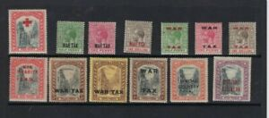 GV BAHAMAS 1917-19 WAR TAX,SPECIAL DELIVERY etc  13 stamps mint