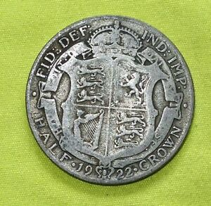 1922 Silver HALF CROWN Coins George V (Combine Postage) a