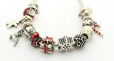 Authentic PANDORA Silver Charm Bracelet with Charms CHRISTMAS SPIRIT