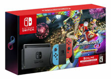 Nintendo Switch HAC-001(-01) Mario Kart 8 Deluxe (Download) + Nintendo Switch Online (3 Months) Pack - 32GB, Black with Neon Blue/Neon Red Joy-Con Controllers