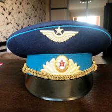 military Officer Cap Hat pilot Russian Soviet USSR Military Uniform