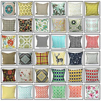 "100% Cotton 20""x20"" Decorative Cushion Covers Home Office Study Pillow Cases"