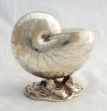 Antique Silverplate Nautilus Shell Spoon Warmer Vase Sculpture Mappin Bros 1864