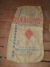 Vintage Diamond Gluten Meal Corn Products Refining New York NY Feed burlap sack